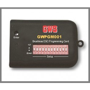 GWS PROGRAMMING CARD FOR ESC15A, 25A, 35A