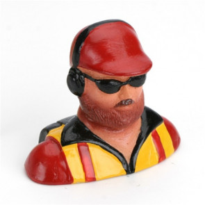 HANGAR 9 1/6 Pilot, with Beard, Hat, Headphones & Glasses