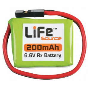 Hobbico LiFe 6.6V 200mAh 1C Rx LiFeSource U Battery