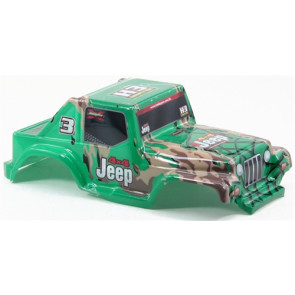 IMEX MODEL 1/10 JEEP BODY PAINTED GREEN