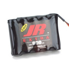 JR Extra RX Battery Pack 800mAh 6V Flat