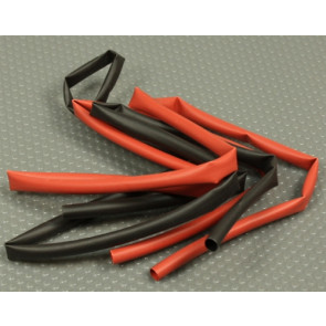 GRAVES RC HOBBIES Heatshrink, 6mm, Black/Red (2) 3FT Pieces