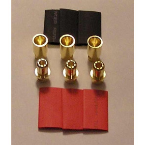 RC ACCESSORY 8.0mm bullet 3 Female & 3 Male package