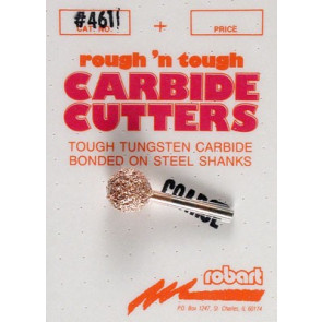 "Robart 461C Carbide Cutter 3/8"" Ball Coarse"