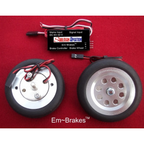 "SHULMAN AVIATION Em-Brake 2-1/2"" Main Wheels"