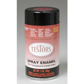 TESTORS Spray Enamel Transparent Candy Grape 3 oz