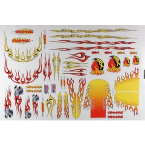 Traxxas Decal Sheet Flames