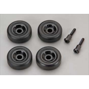 Traxxas Wheels (4) Axles Maxx Wheelie Bar (2)