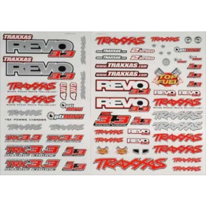 Traxxas Decal Sheet Revo 3.3