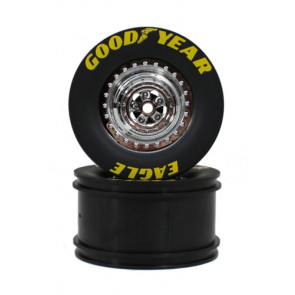 Traxxas Wheels Rear Chrome (2)