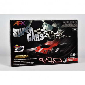 AFX Super Cars Set; 15ft Track,Mega G+ Chassis,Tri-Pack