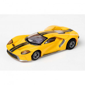 AFX Single Slot Car - Ford GT - Triple Yellow