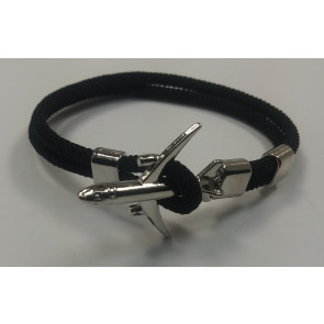Graves RC Airplane Anchor Bracelet - Black