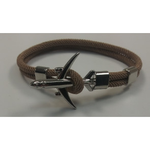 Graves RC Airplane Anchor Bracelet - Brown