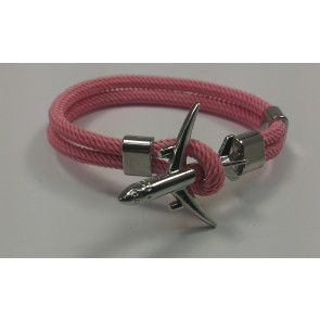 Graves RC Airplane Anchor Bracelet - Pink