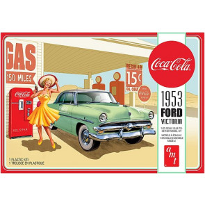 AMT 1/25 1953 Ford Victoria Hardtop with Coke Machine 2T Plastic Model Car Kit