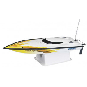 AQUACRAFT Mini Rio Offshore RTR EP Boat, YELLOW, CH A3