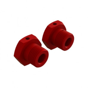 ARRMA Aluminum Wheel Hex 17mm Red (2)