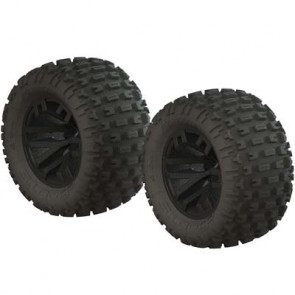 ARRMA dBoots Fortress MT Tire Set Glued Black (2)