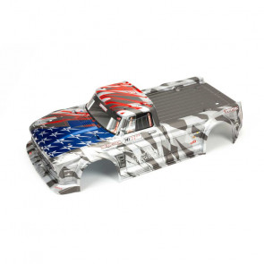 ARRMA Painted Body, Silver/Red: INFRACTION 6S BLX