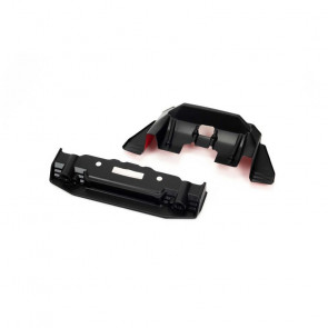 ARRMA Painted Splitter And Diffuser, Black/Red: FELONY 6S BLX