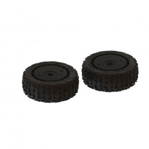 ARRMA 1/8 dBoots Front/Rear 3.3 Pre-Mounted Tires, 17mm Hex, Black (2): Katar B 6S