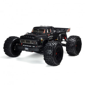 ARRMA 1/8 NOTORIOUS 6S V5 4WD BLX Stunt Truck with Spektrum Firma RTR, Black