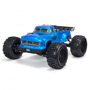 ARRMA 1/8 NOTORIOUS 6S V5 4WD BLX Stunt Truck with Spektrum Firma RTR, Blue