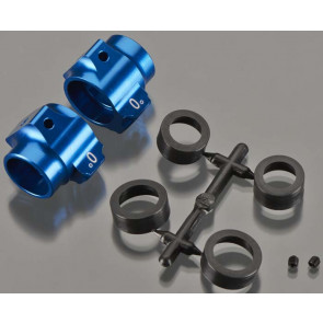 Associated Aluminum Rear Hubs Blue
