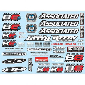 Associated Decal Sheet B6