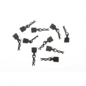 AXIAL 3mm Body Clip with Tab, Black (10)