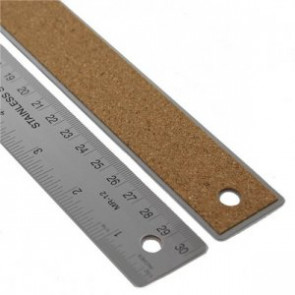 CEN-TECH STAINLESS STEEL RULER 12""
