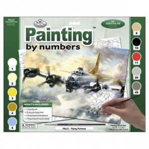Flying Fortress Paint By Number