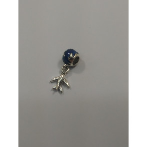Graves RC Blue Bead Airplane Charm