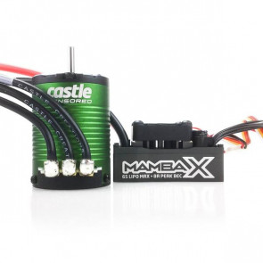 CASTLE CREATIONS - MAMBA X SENSORED 25.2V WATERPROOF ESC 1406-4600KV COMBO