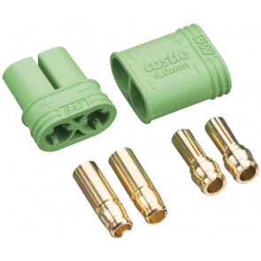 CASTLE CREATIONS Connector: 4mm Polarized Bullet Device and Battery Set