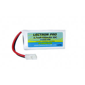 Common Sense RC Lectron Pro 3.7V 450mAh 30C Lipo Battery with Walkera Connector