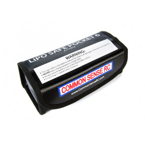 Common Sense RC Lipo Safe Pocket 6 Charging & Storage Bag - Ideal for use with 6S Lipos
