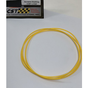 "Graves RC Hobbies Teflon Sheathing ( Pushrod Housing ), 0.040"", 4ft, Yellow"