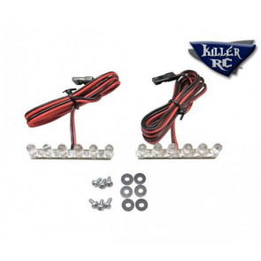 "Killer RC ""Super Bright"" Tail Lights For HPI Baja 5T - 6 RED LED's"