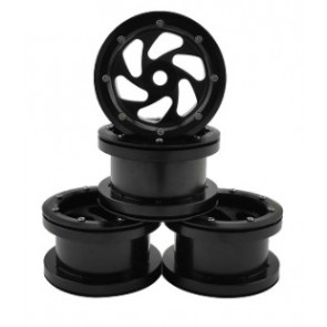 Hobby Details 2.2'' Aluminum Beadlock Crawler Wheels 4pcs - Shadow - Black