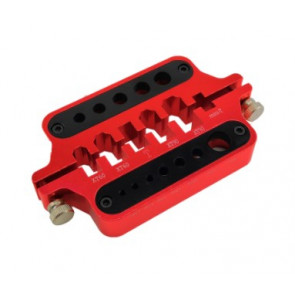 HOBBY DETAILS Plug and Connector Soldering Jig - Red