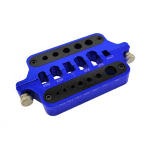 HOBBY DETAIL Plug and Connector Soldering Jig - Blue