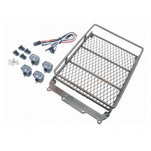 HOBBY DETAILS Roof Rack with LED Light Bar for 1/10 RC Cars
