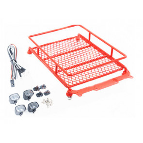 Hobby Details Roof Luggage Rack with LED Light Bar - Red