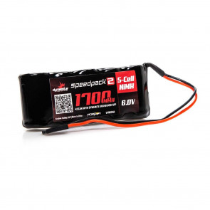 Dynamite Speedpack2 6V 1700mAh 5-Cell NiMH Flat RX Pack