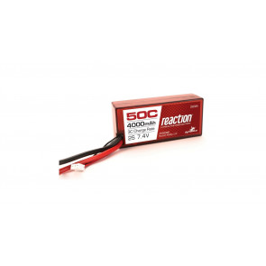 Dynamite Reaction 7.4V 4000mAh 2S 50C LiPo, Hardcase: 96mm, EC3