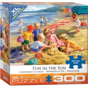 EUROGRAPHICS PUZZLES	Fun in the Sun (Children on Beach) Puzzle (300pc)