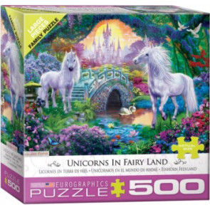 EUROGRAPHICS PUZZLES Unicorns Fairy Land Puzzle (500pc)