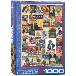 EUROGRAPHICS PUZZLES WWI & WWII Vintage Posters Collage Puzzle (1000pc)